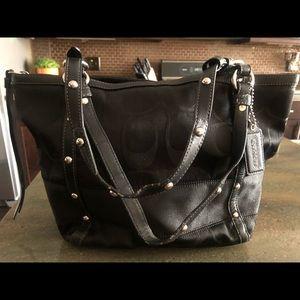 Extremely well loved black Coach shoulder bag